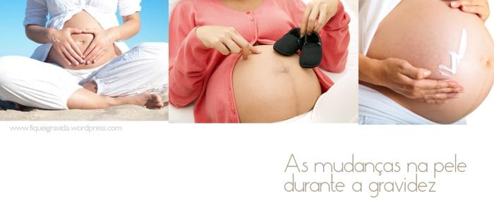 As mudanças na pele durante a gravidez